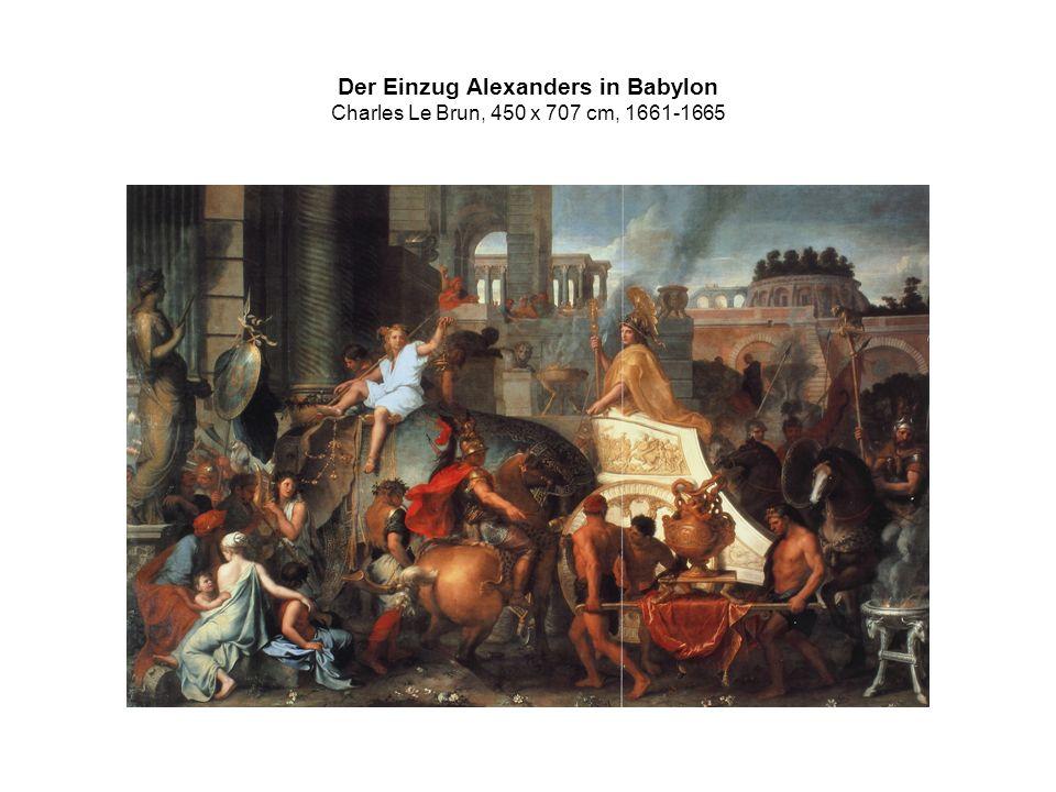 Der Einzug Alexanders in Babylon Charles Le Brun, 450 x 707 cm, 1661-1665