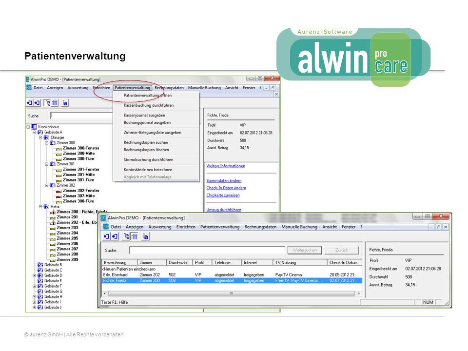27© aurenz GmbH | Alle Rechte vorbehalten. Patientenverwaltung