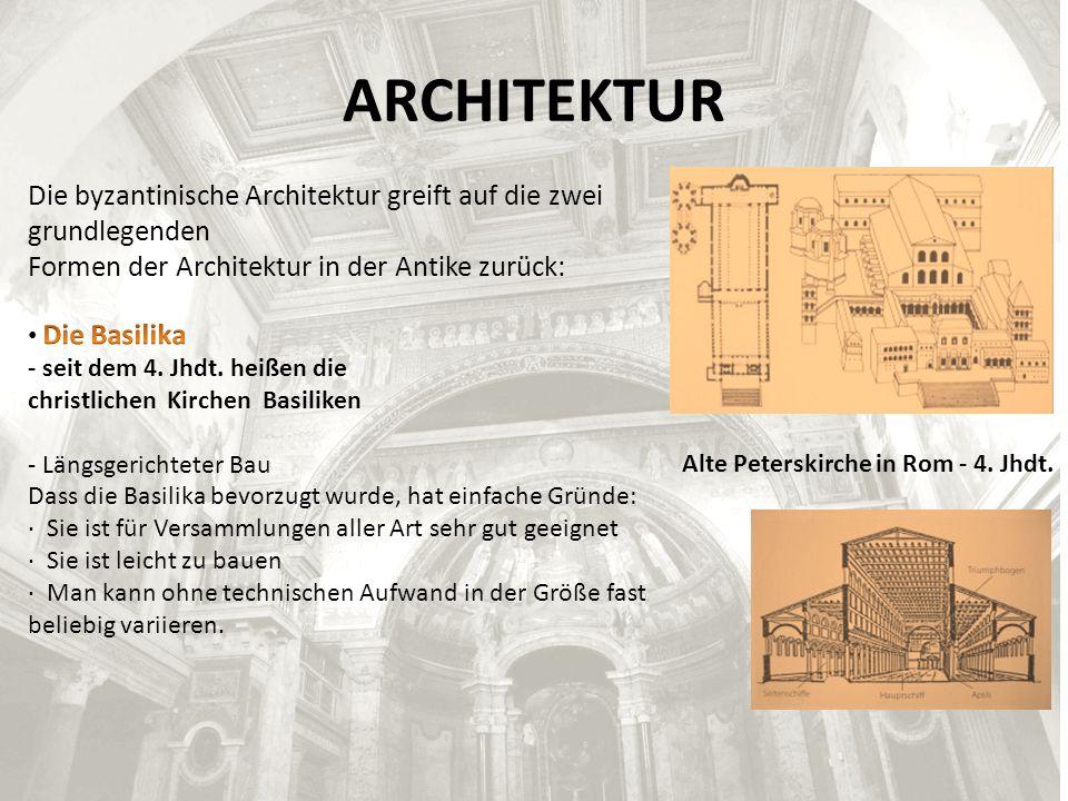 ARCHITEKTUR Alte Peterskirche in Rom - 4. Jhdt.