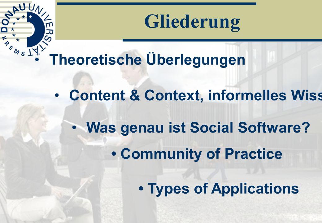 Social SoftwarePeter Baumgartner/Danube-University Krems23/52