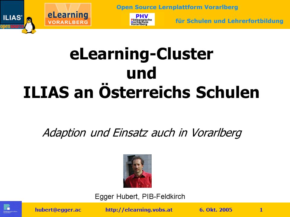hubert@egger.ac http://elearning.vobs.at 6. Okt.