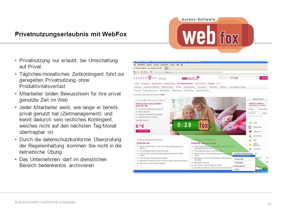 13 © aurenz GmbH | Alle Rechte vorbehalten.