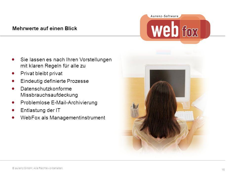 15 © aurenz GmbH | Alle Rechte vorbehalten.