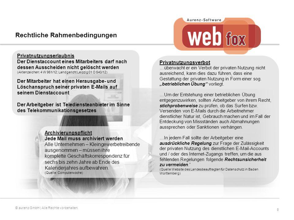 8 © aurenz GmbH | Alle Rechte vorbehalten.
