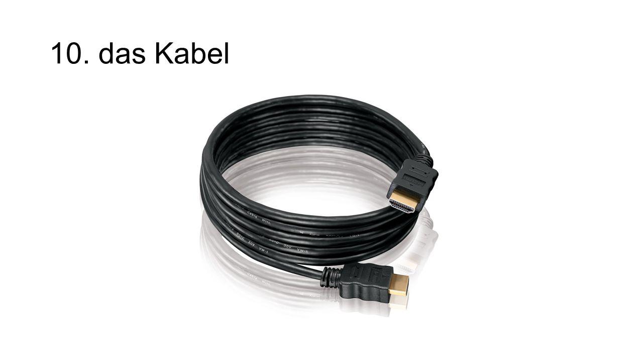 10. das Kabel