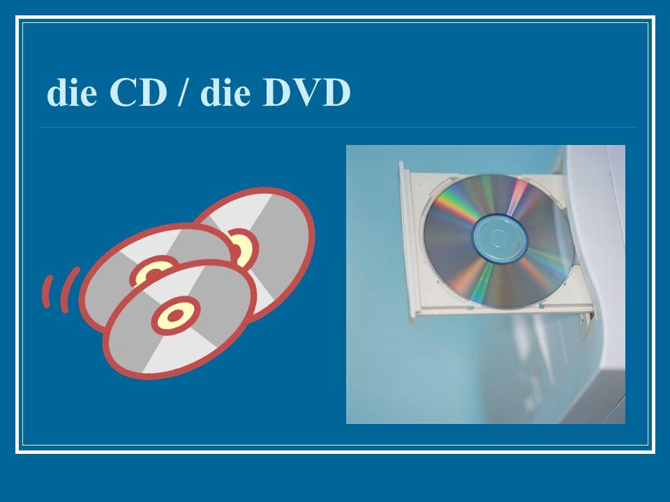 die CD / die DVD