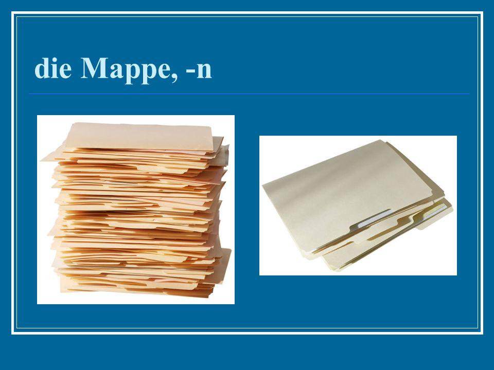 die Mappe, -n