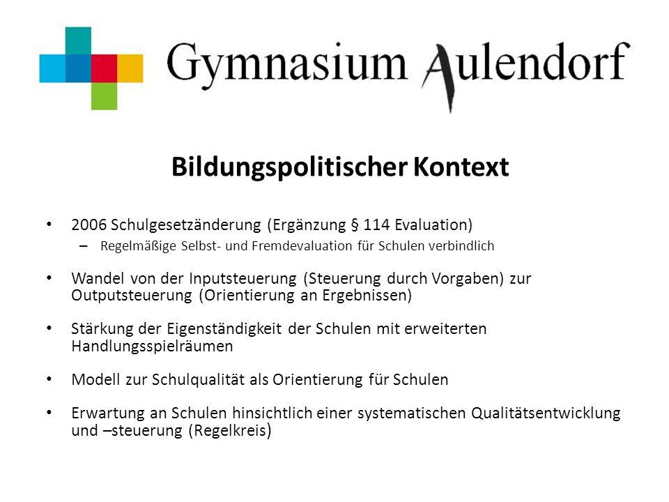 Überlegungen des Kollegiums und der Schulleitung o primäres Ziel = Halten des erzielten Ergebnisses der FEV!!.