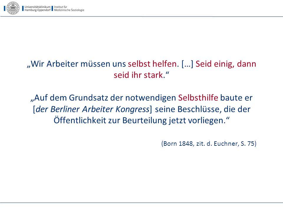 Selbsthilfe als 4.Säule - 14.5.2015 Hohenroda - Kofahl Zeiten des Umbruchs Ende 19.