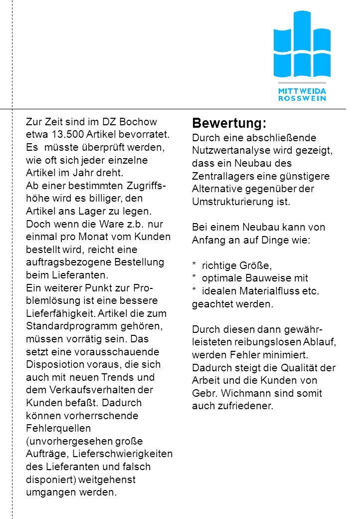 Zur Zeit sind im DZ Bochow etwa 13.500 Artikel bevorratet.