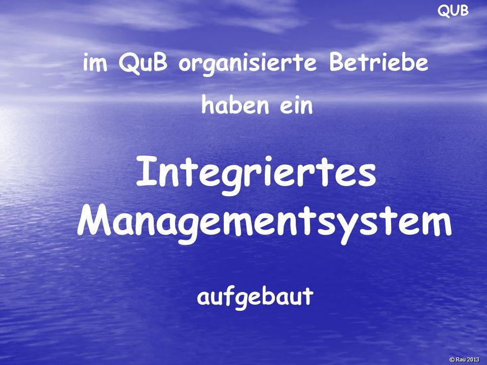 QUB © Rau 2013 Ablauforganisation Vertrieb/ Verkauf Fuhrparknutzung ist optimiert Imagegewinn Zertifikat schafft Vertrauen - Marktzugang erleichtert Erschließung neuer Kundenkreise