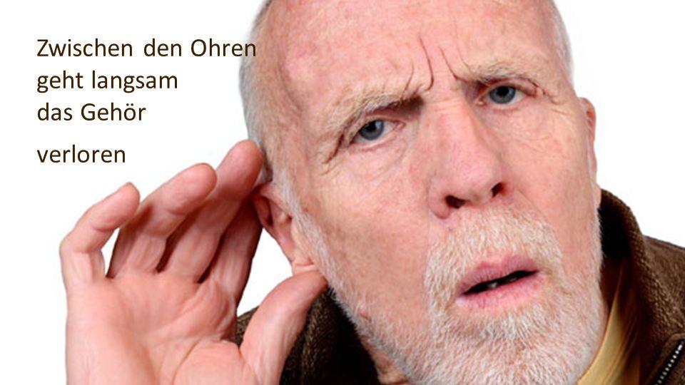 Zwischen den Ohren geht langsam das Gehör verloren