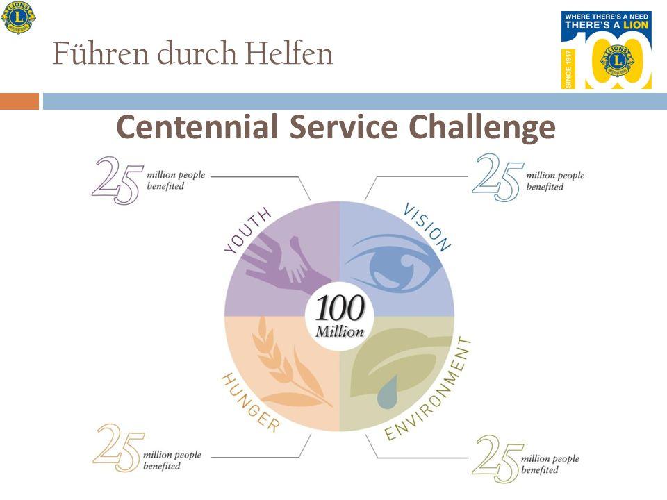 Führen durch Helfen Centennial Service Challenge