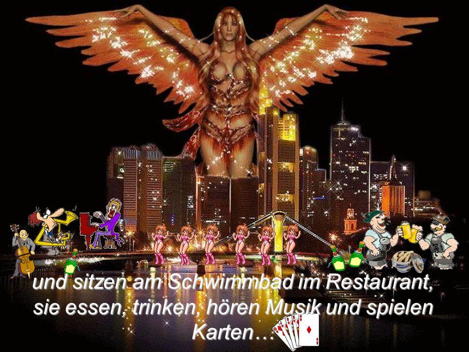 diese begrüßen ihn freudig,… Der Engel Gabriel bringt Michael Häupl in den Fahrstuhl und sie fahren hinunter bis zur Hölle.