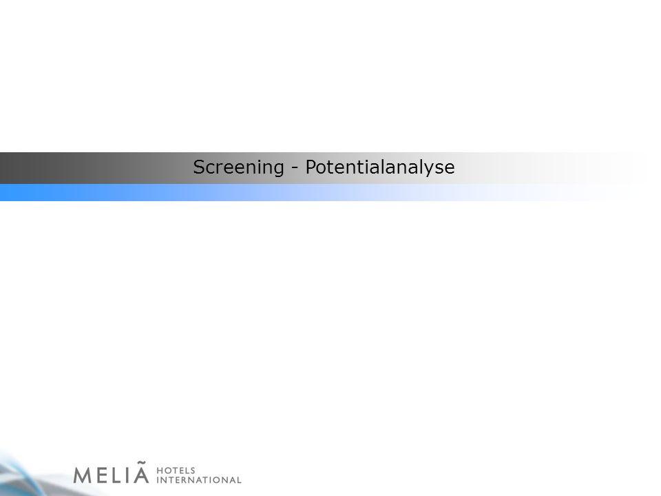 Screening: Möglichkeiten zur Verbesserung, Definition eines Leitfadens Ziel: Steigerung der Ergebnisse (Umsätze) Geschäft finden.