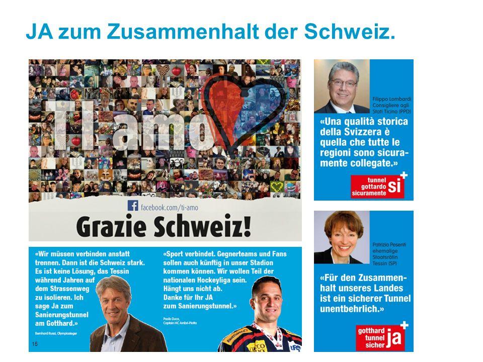 JA zum Zusammenhalt der Schweiz. 15