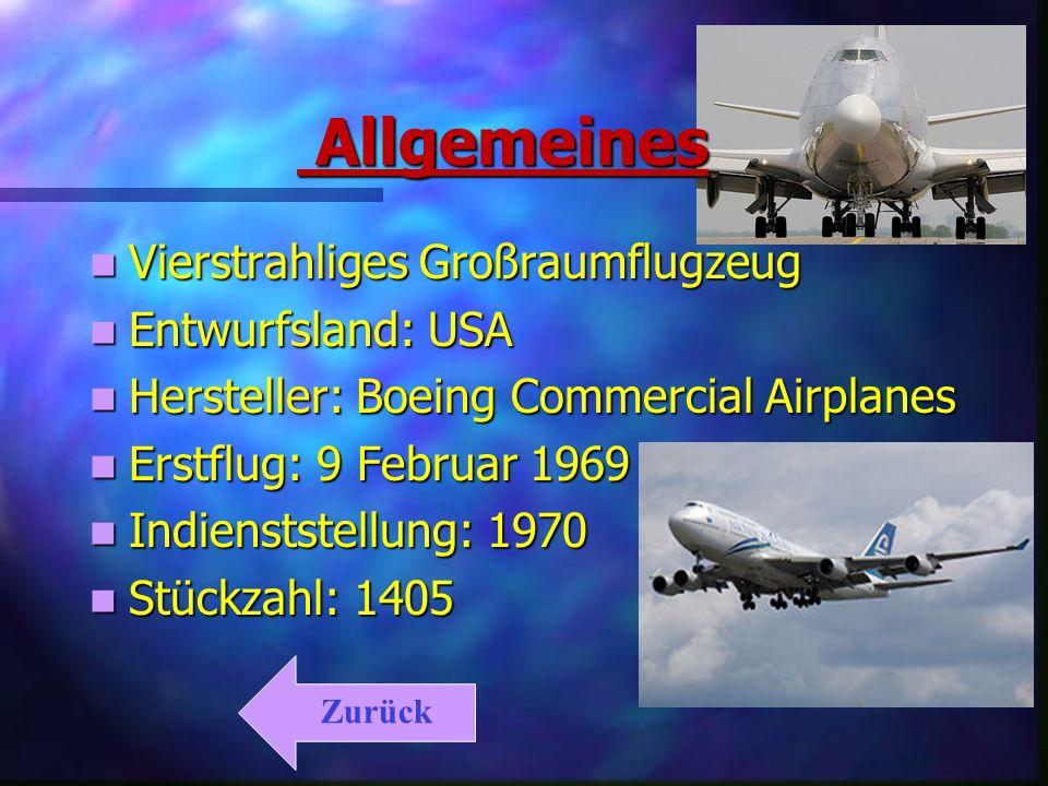 Allgemeines Allgemeines Vierstrahliges Großraumflugzeug Vierstrahliges Großraumflugzeug Entwurfsland: USA Entwurfsland: USA Hersteller: Boeing Commerc