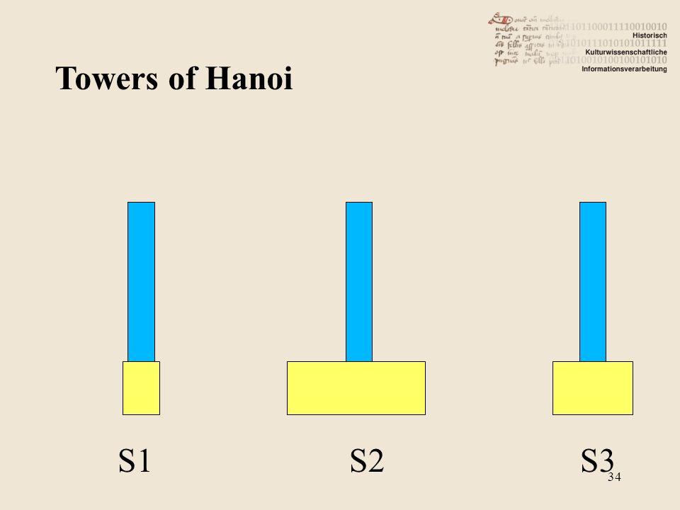 Towers of Hanoi S1 S2 S3 34