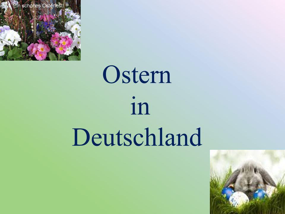 Комнаты и двери в доме в Пасху украшают венками из зелёных веток der Osterkranz