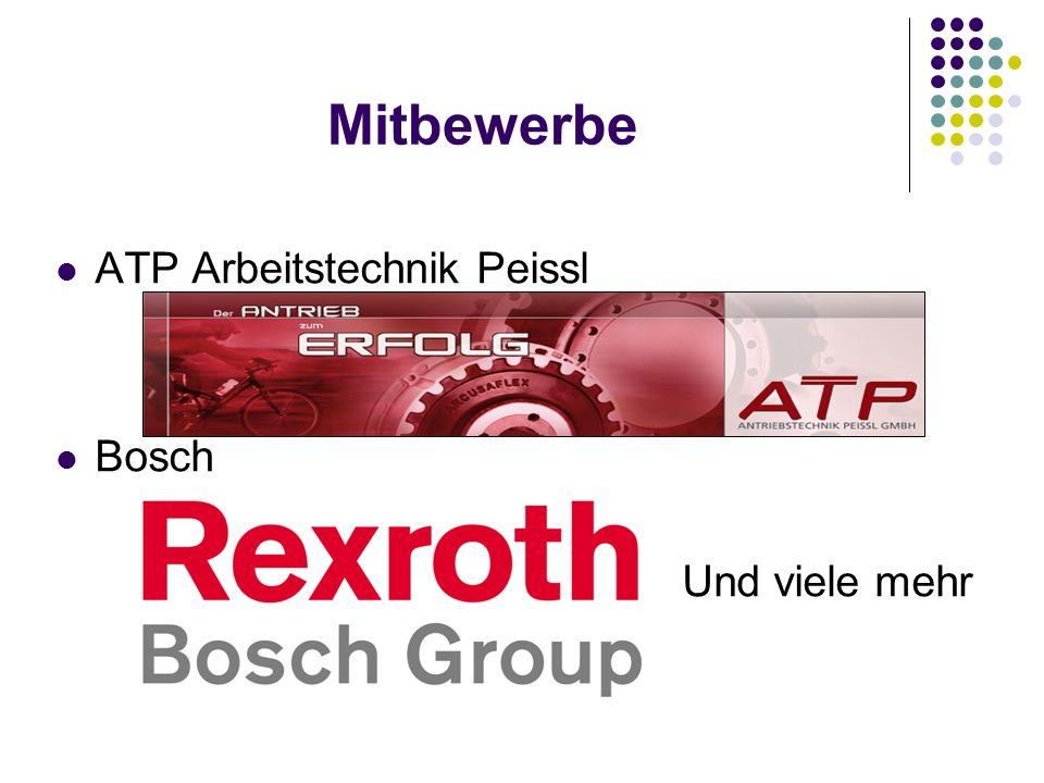 Mitbewerbe ATP Arbeitstechnik Peissl Bosch Und viele mehr