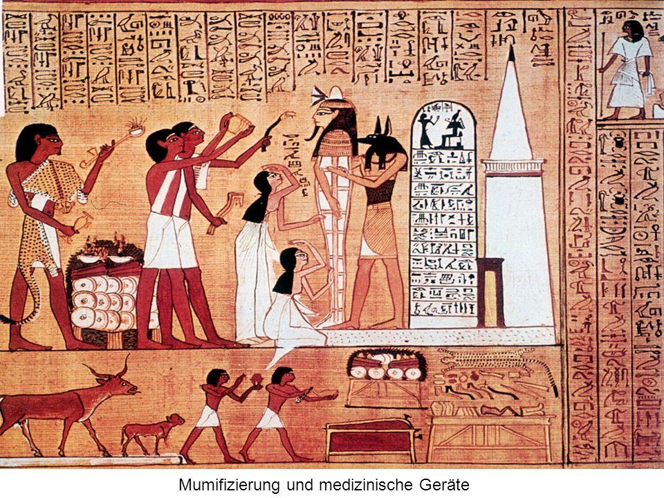 Mumifizierung und medizinische Geräte