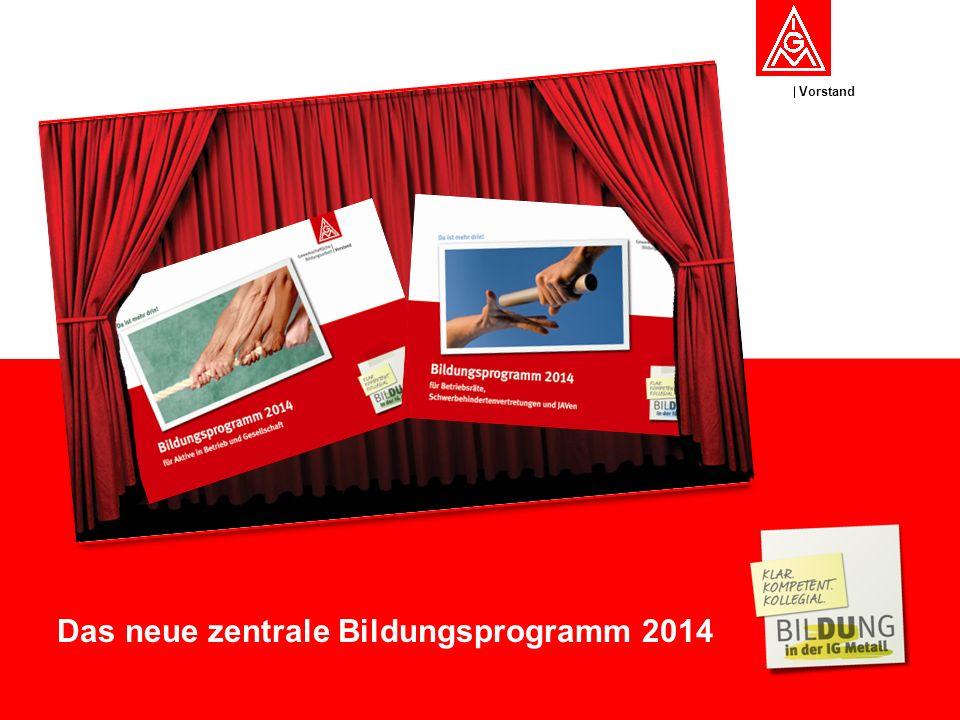 Vorstand Das neue zentrale Bildungsprogramm 2014