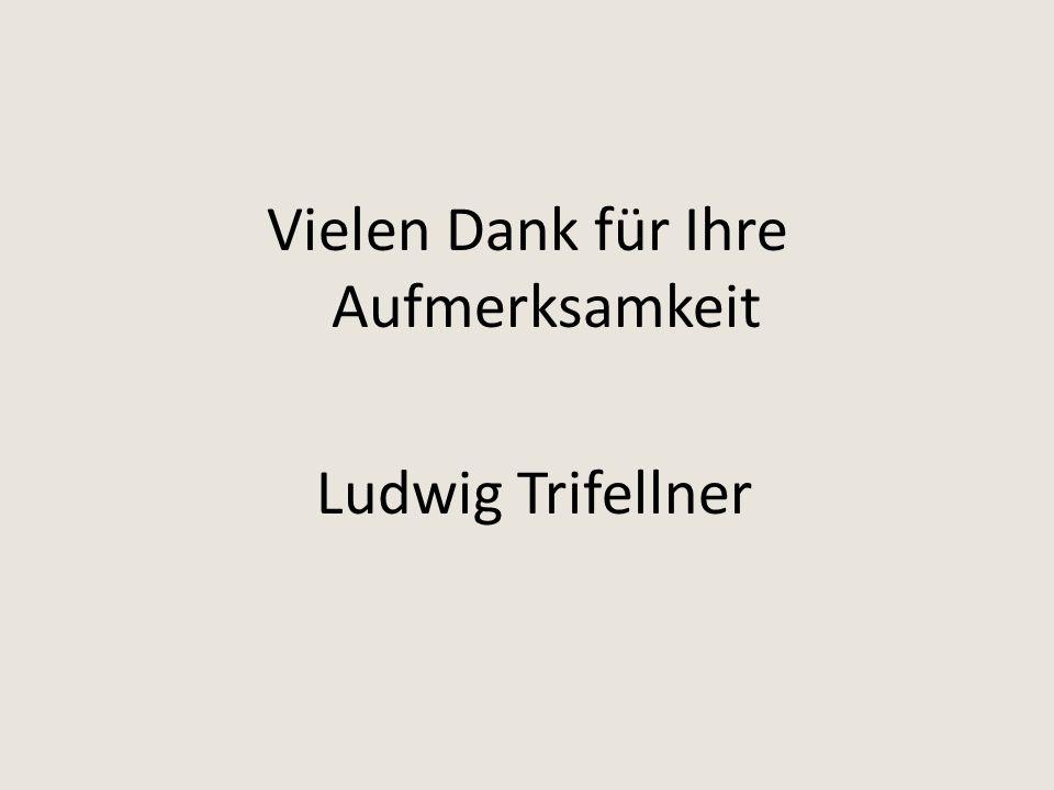 Vielen Dank für Ihre Aufmerksamkeit Ludwig Trifellner