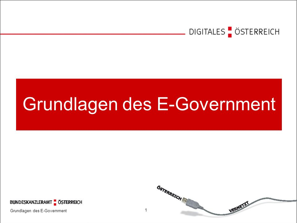 Grundlagen des E-Government 1