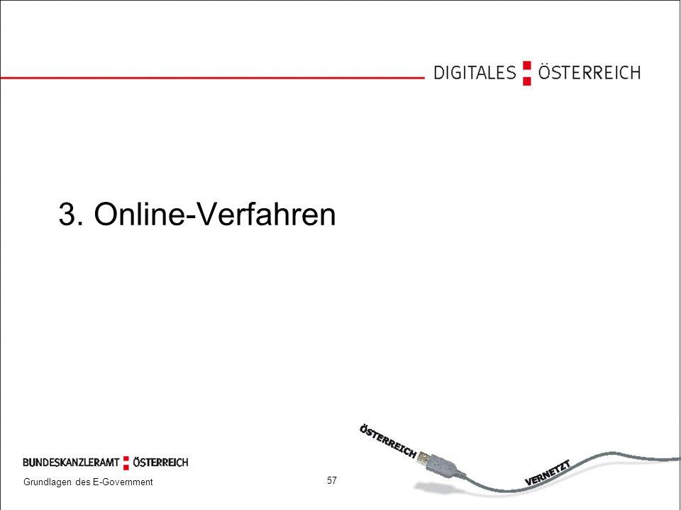 Grundlagen des E-Government 57 3. Online-Verfahren