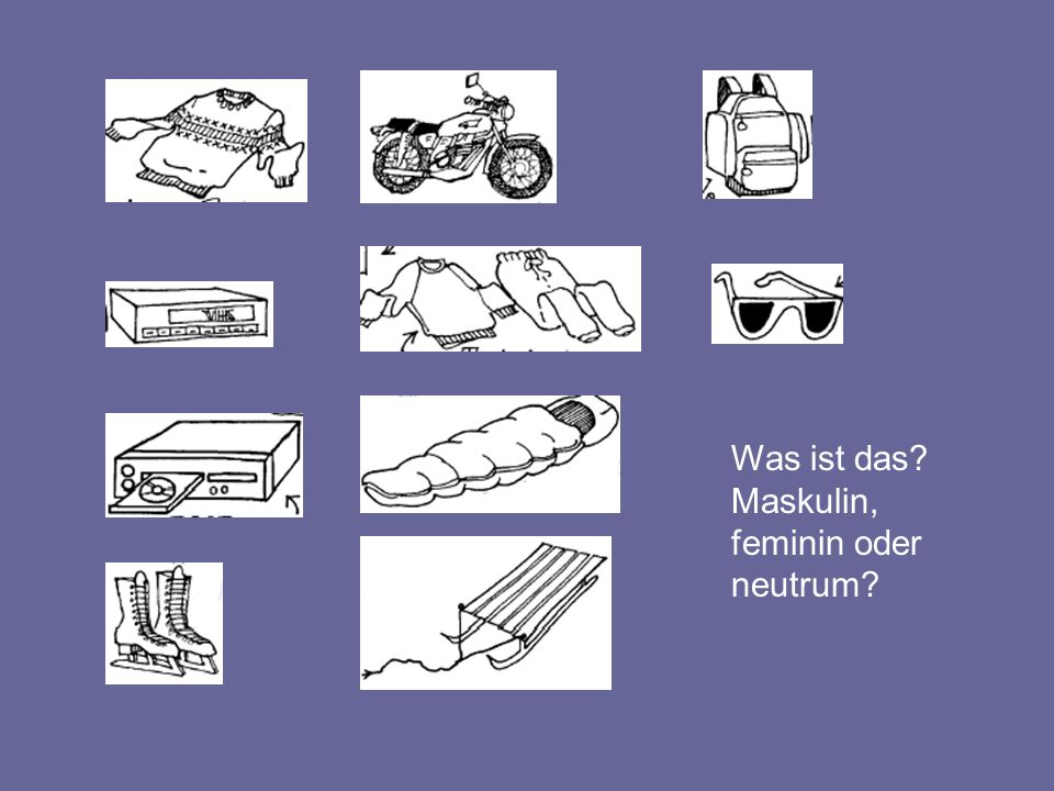Nominativ und Akkusativ Tisch (m.) Bett (n.) Lampe (f.) Bücher (pl.) Nom Akk der den das die Nom Akk ein einen ein eine ———— Nom Akk kein keinen kein keine