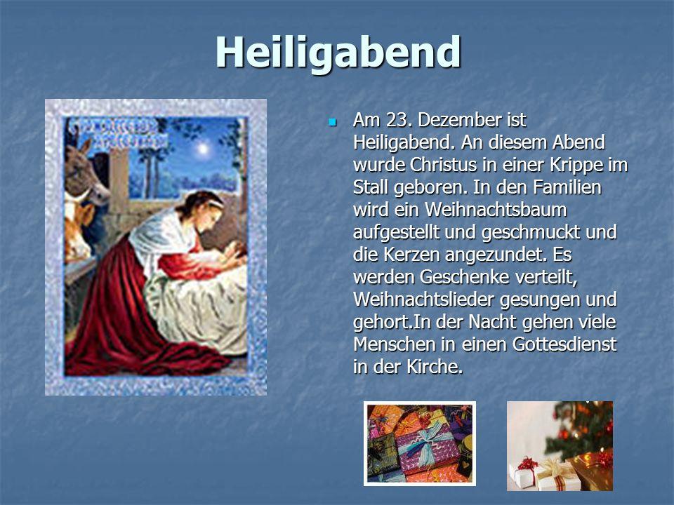 Tag des heiligen Nikolaus Der 6.Dezember ist der Tag des heiligen Nikolaus.