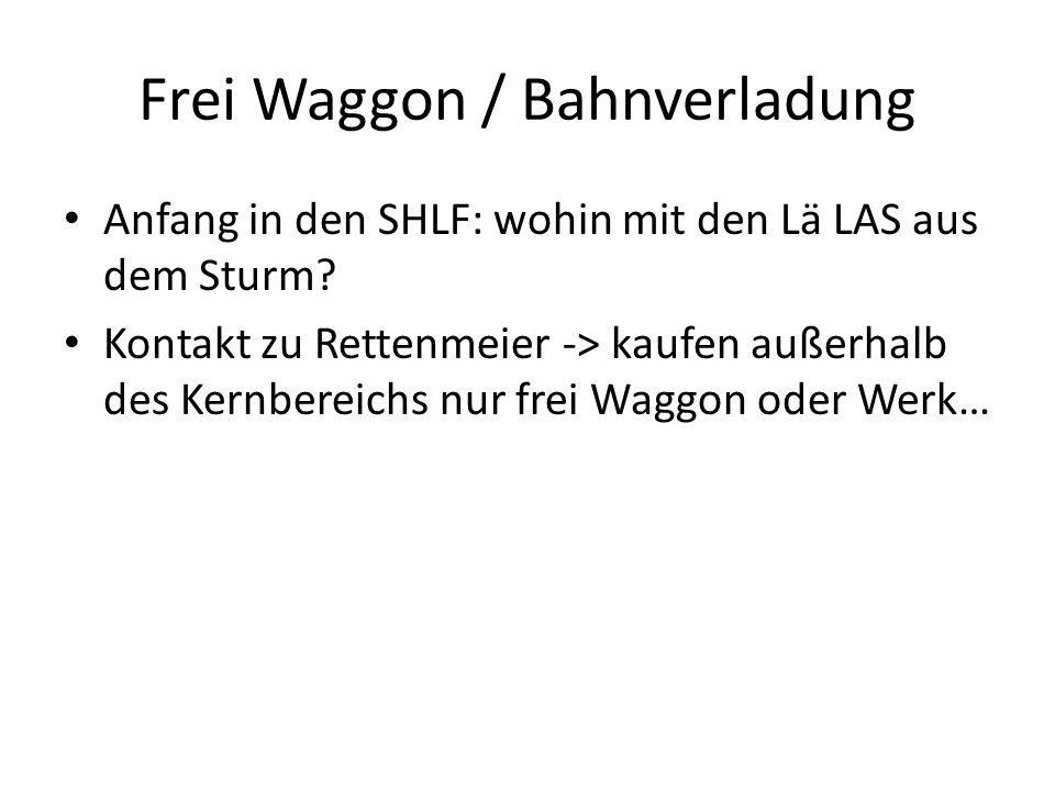 Frei Waggon / Bahnverladung Anfang in den SHLF: wohin mit den Lä LAS aus dem Sturm.