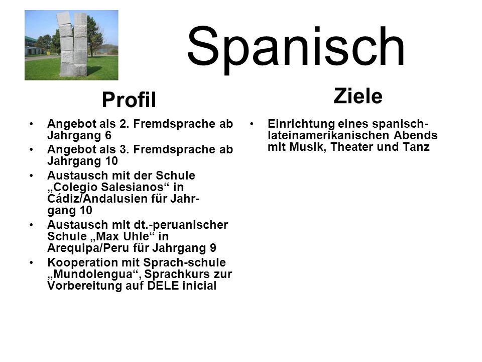 Spanisch Angebot als 2.Fremdsprache ab Jahrgang 6 Angebot als 3.