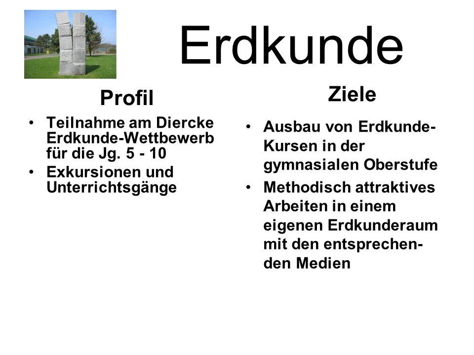 Erdkunde Teilnahme am Diercke Erdkunde-Wettbewerb für die Jg.