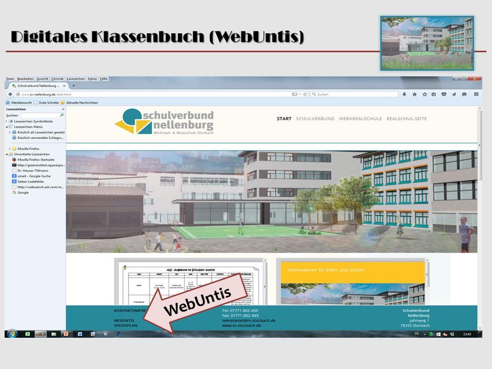Digitales Klassenbuch (WebUntis) Beate Clot, 5.10.15 WebUntis