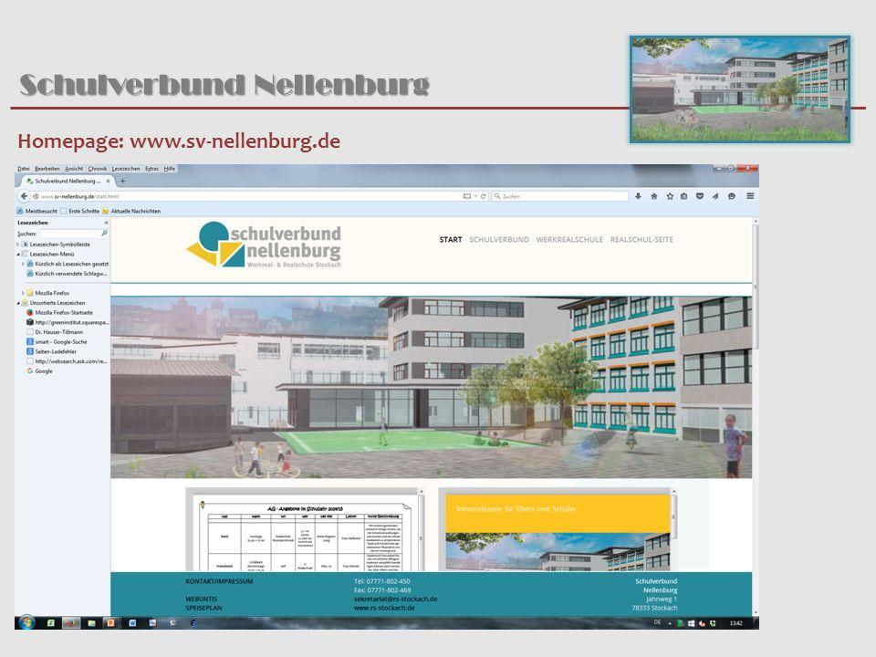 Schulverbund Nellenburg Homepage: www.sv-nellenburg.de