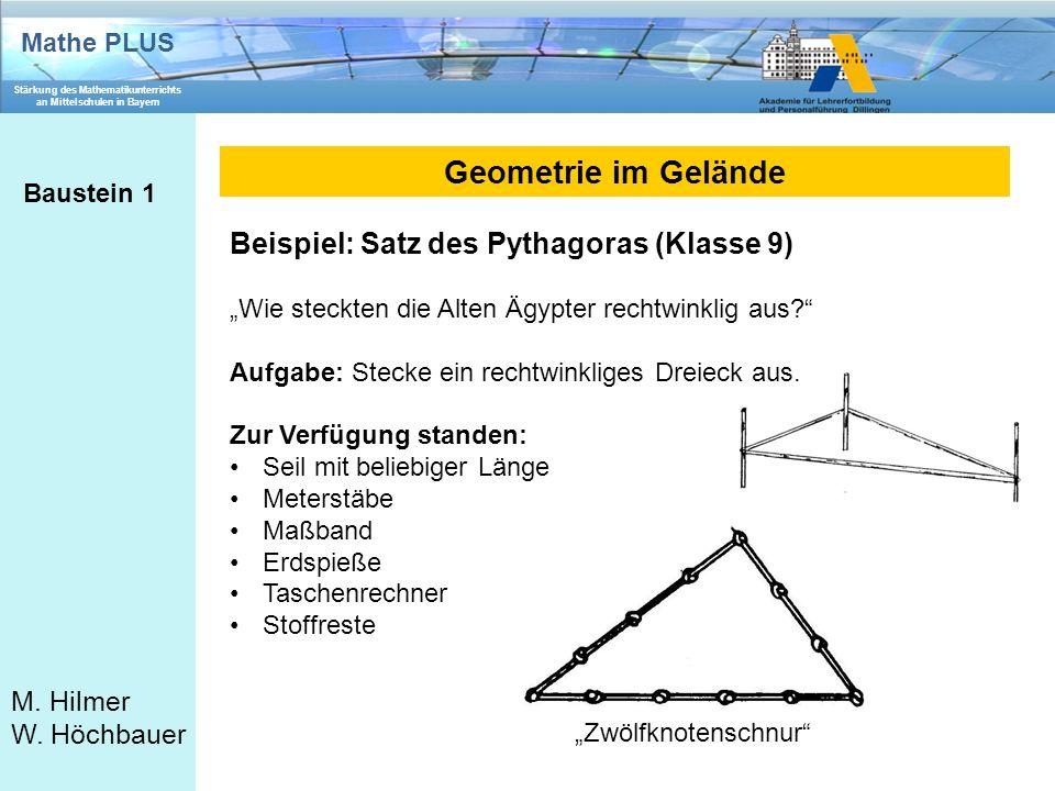 Mathe PLUS Stärkung des Mathematikunterrichts an Mittelschulen in Bayern M.