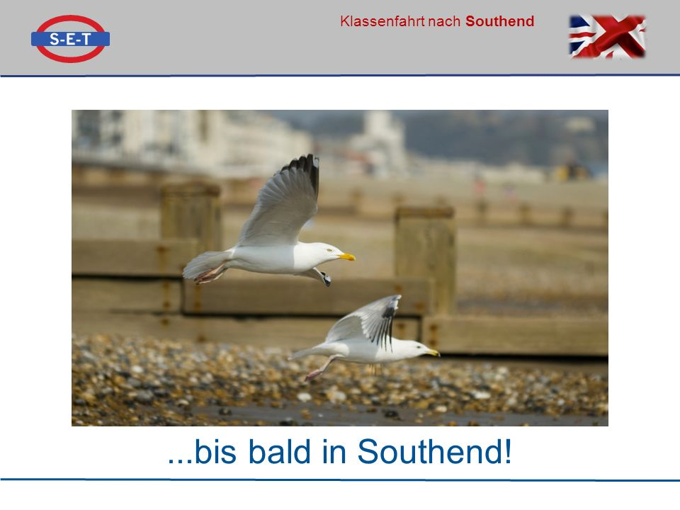 Klassenfahrt nach Southend...bis bald in Southend!