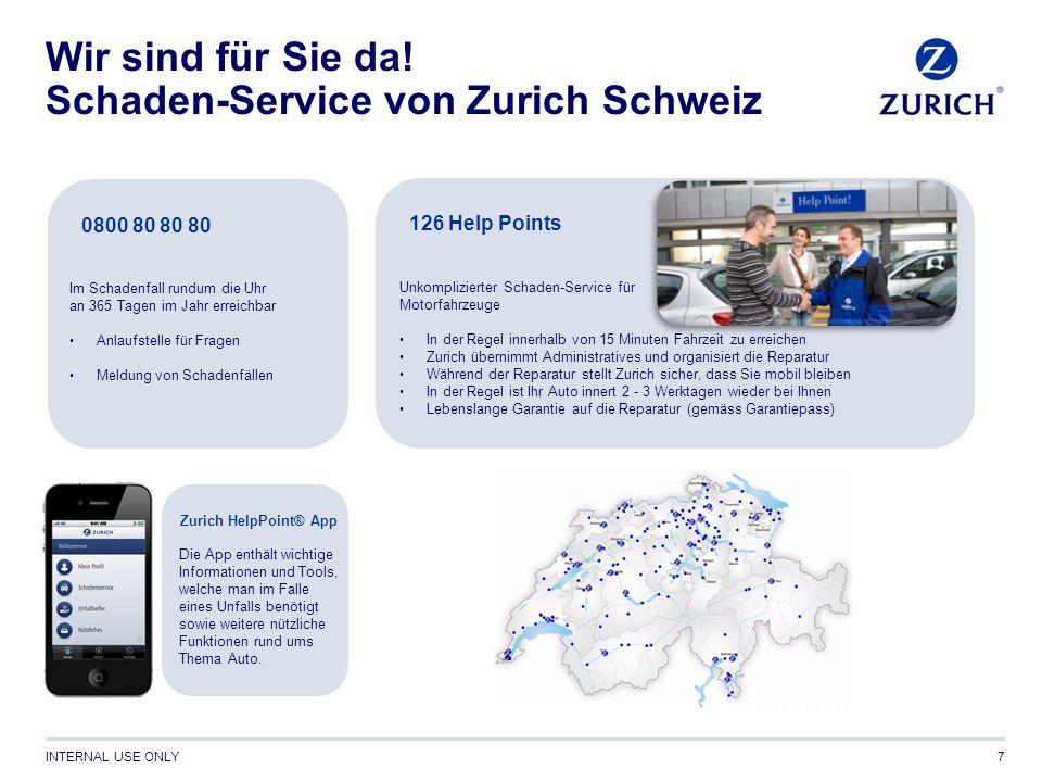 INTERNAL USE ONLY8 Zurich – Rundum ein starker Partner Generalagentur Referent Wollen auch Sie profitieren?