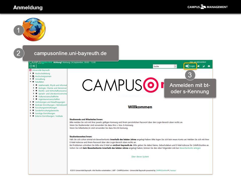 ▪Am linken Rand die Organisationseinheiten ▪CAMPUSonline ist in Applikationen untergliedert Aufbau der Oberfläche Lehrstühle & Abteilungen Applikationen