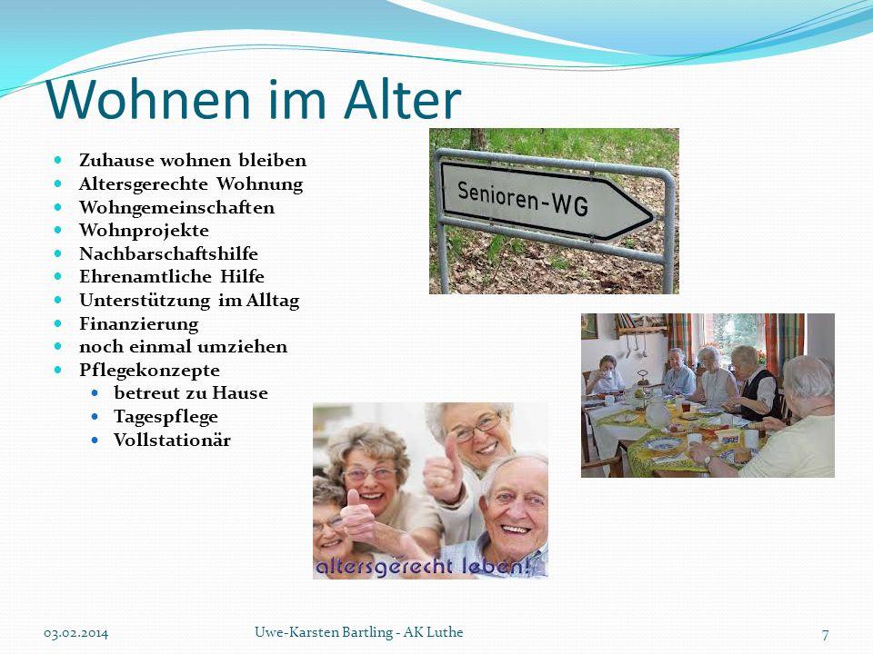 Wohnen im Alter Wer pflegt.Externe Leistungen Eigenleistungen Jung – Alt.