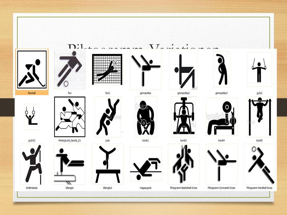 Piktogramm-Variationen