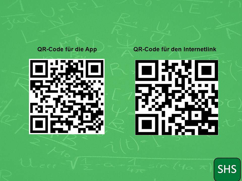 QR-Code für die AppQR-Code für den Internetlink