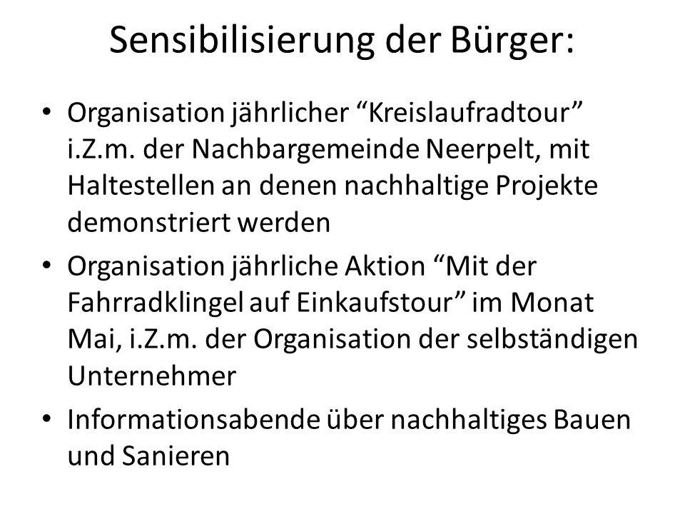 Sensibilisierung der Bürger: Organisation jährlicher Kreislaufradtour i.Z.m.