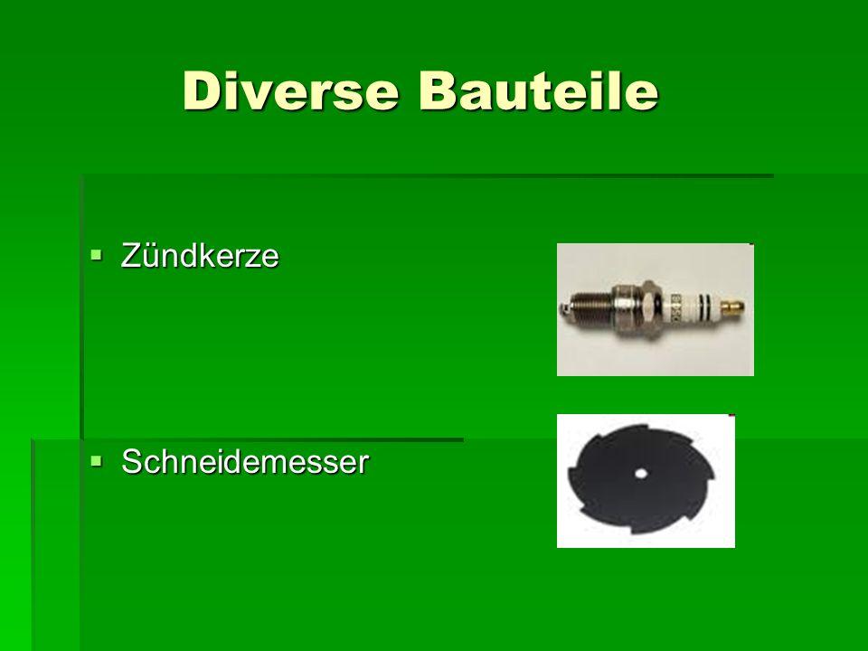 Diverse Bauteile  Zündkerze  Schneidemesser