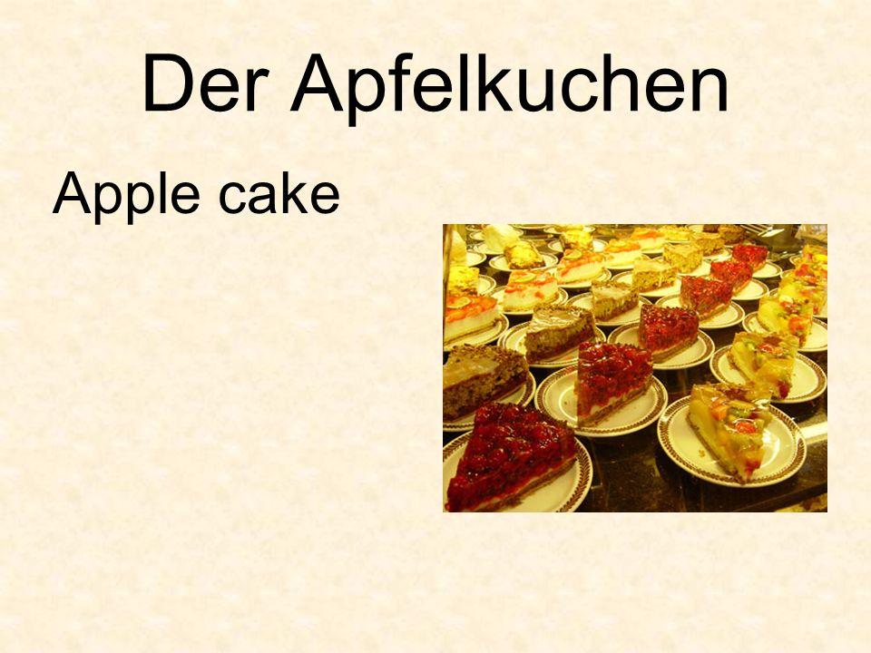 Der Apfelkuchen Apple cake