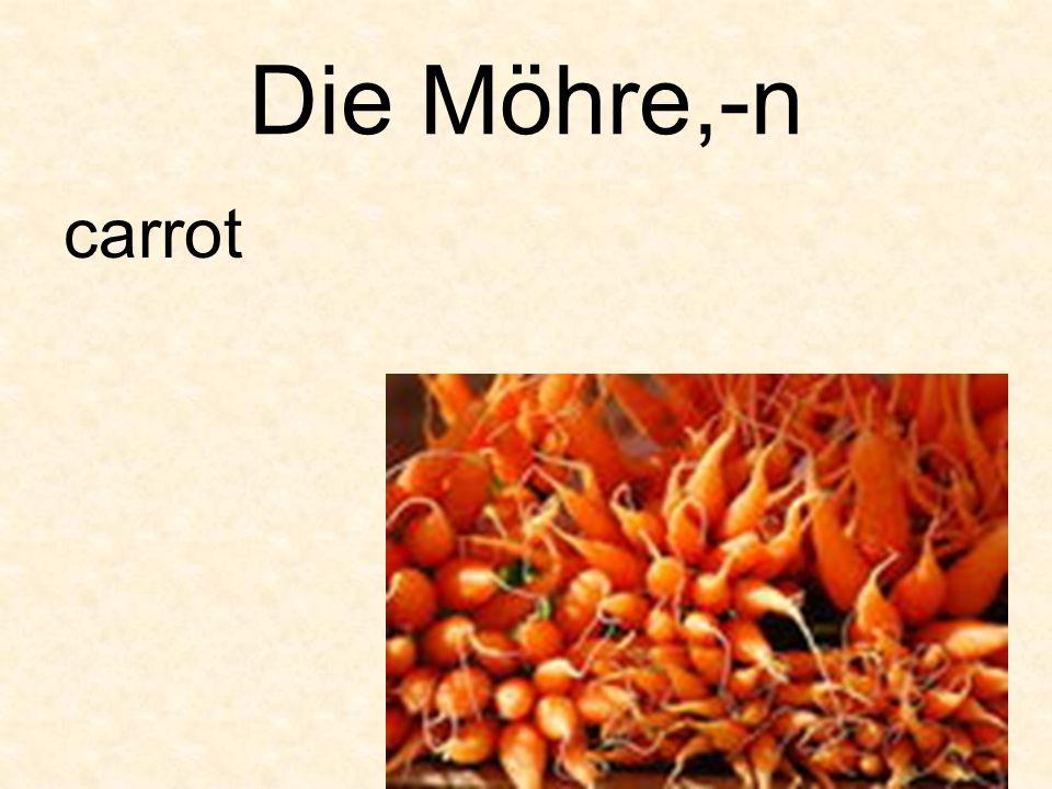 Die Möhre,-n carrot