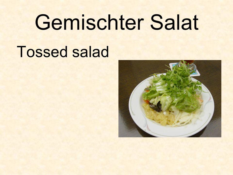 Gemischter Salat Tossed salad