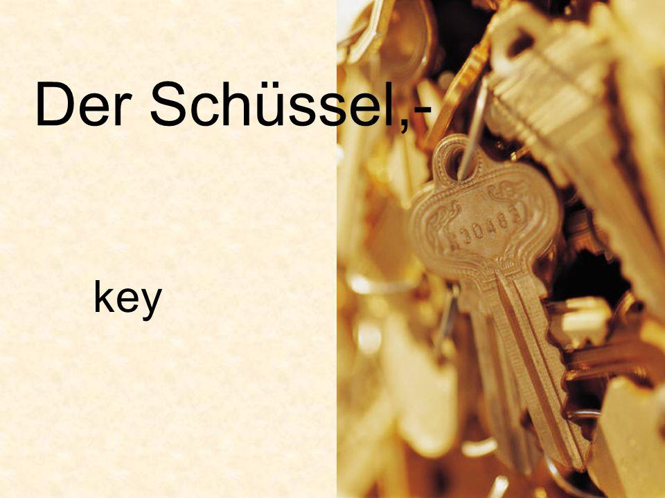 Der Schüssel,- key