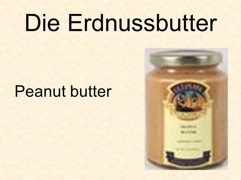 Die Erdnussbutter Peanut butter